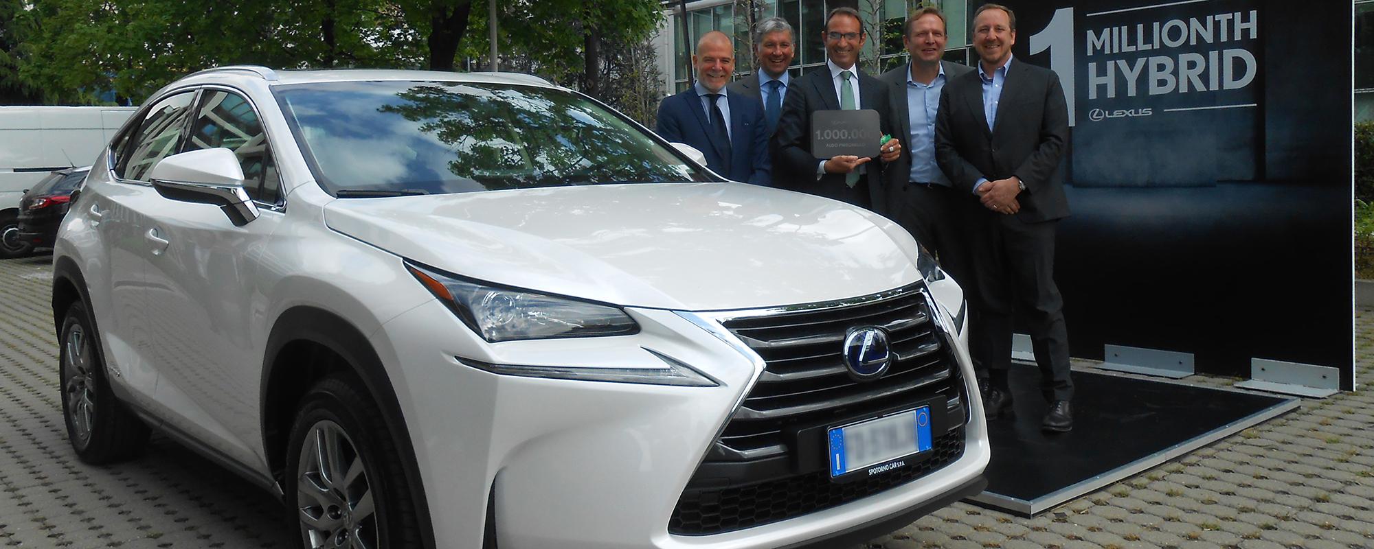 Wereldwijd 1 miljoen hybride auto's van Lexus een feit