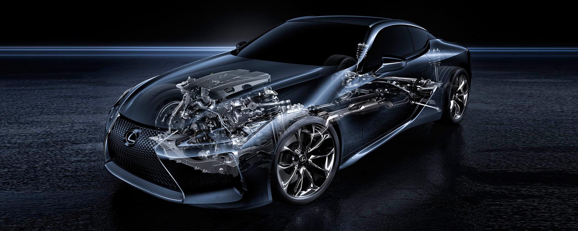 Technisch DNA Lexus LFA supersportscar vertaald naar nieuwe LC premium coupé