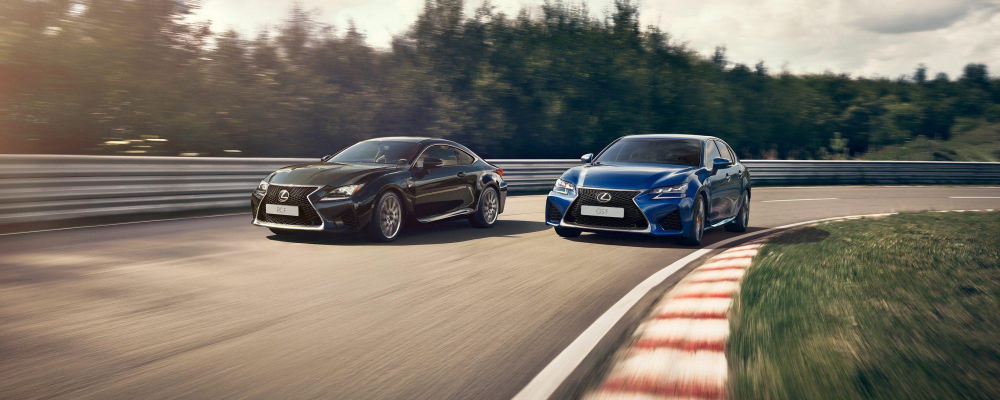 Lexus GS F en RC F nóg dynamischer: Adaptive Variable Suspension voortaan standaard