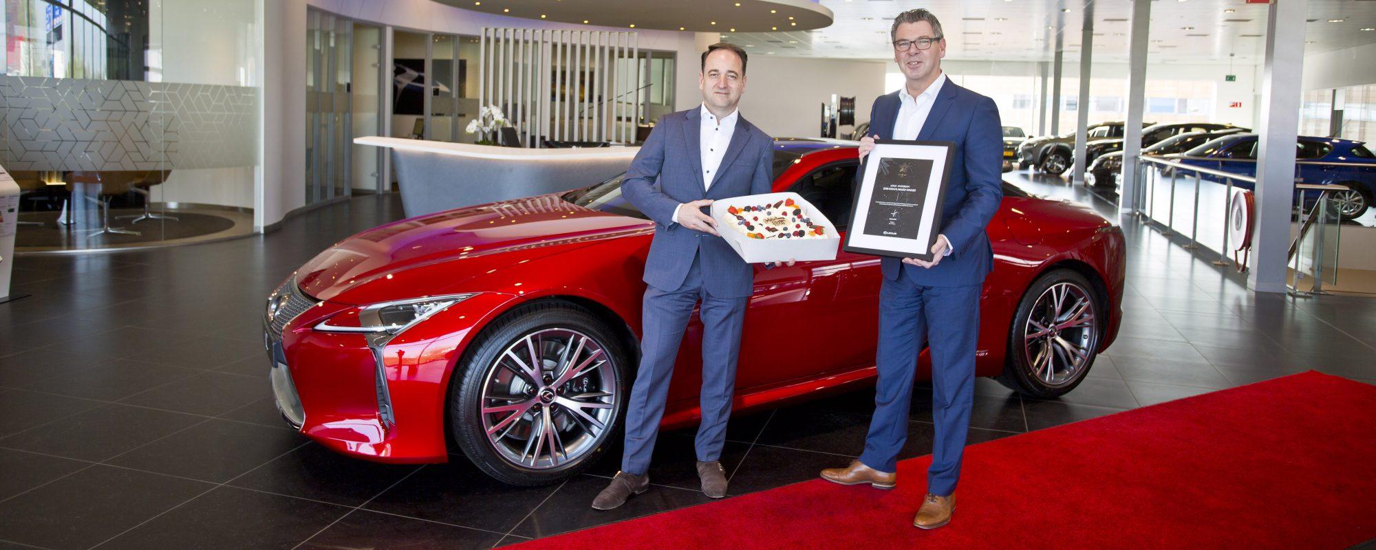Lexus Amsterdam verkozen tot top 10 beste Lexus dealers van Europa