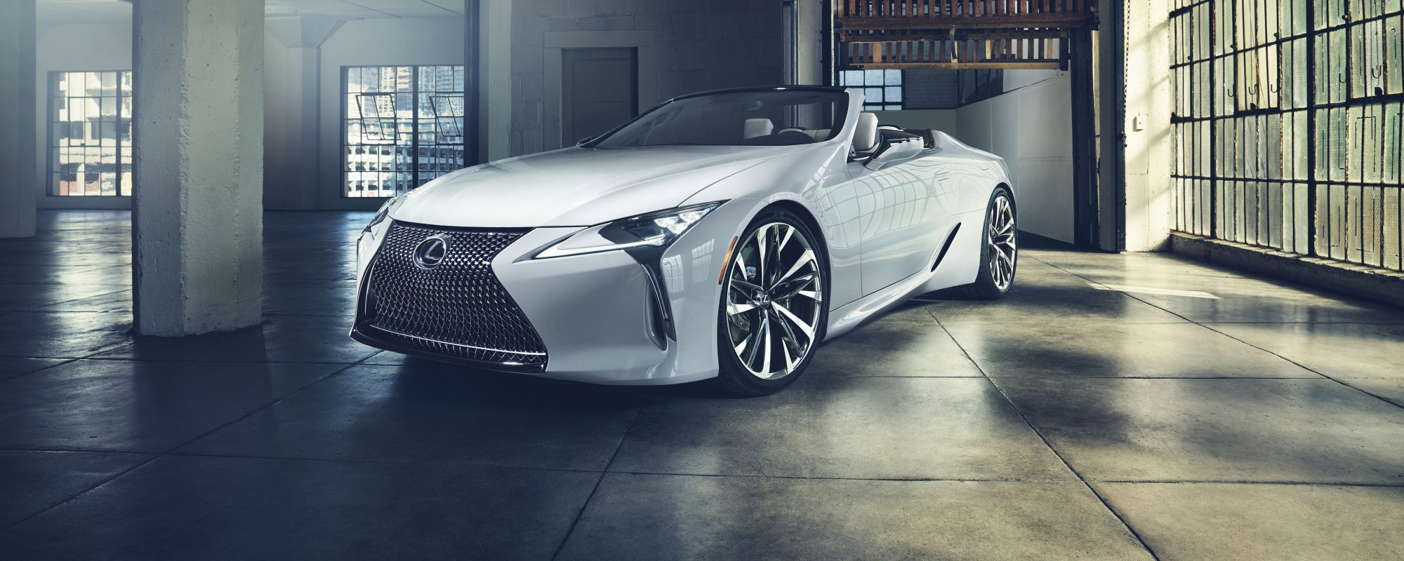 Wereldpremière Lexus LC Convertible Concept op autoshow van Detroit