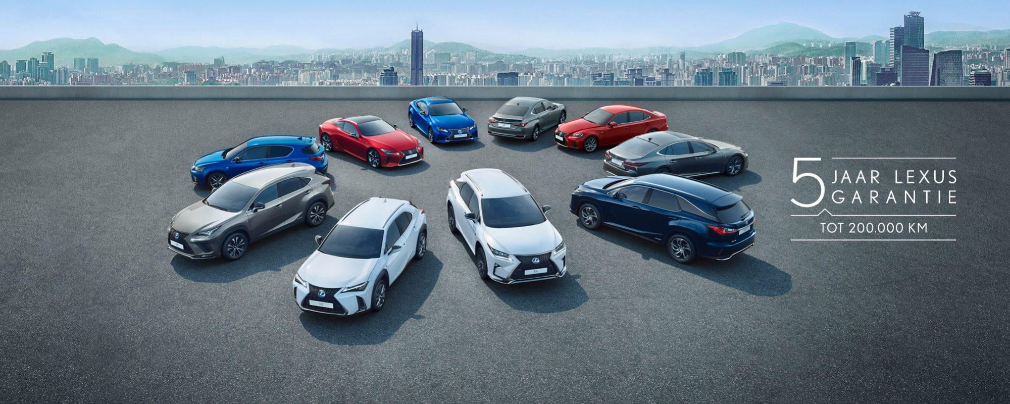 Standaard vijf jaar garantie op elke Lexus