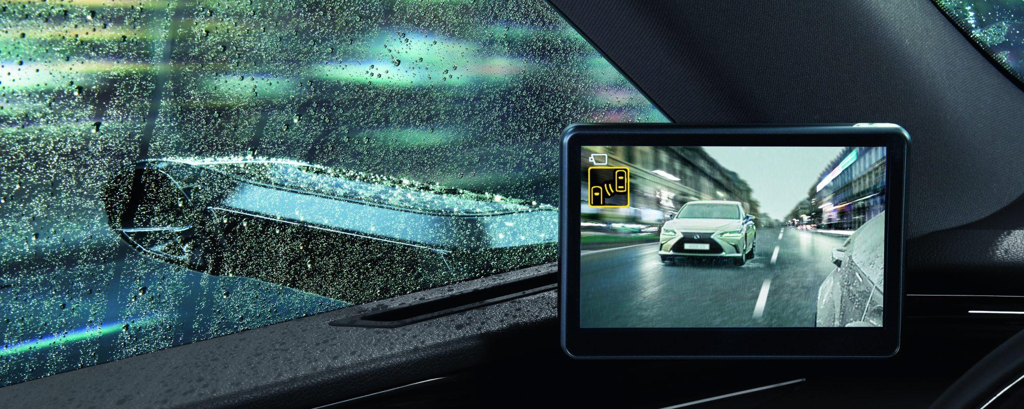 Digitale buitenspiegels voor de Lexus ES