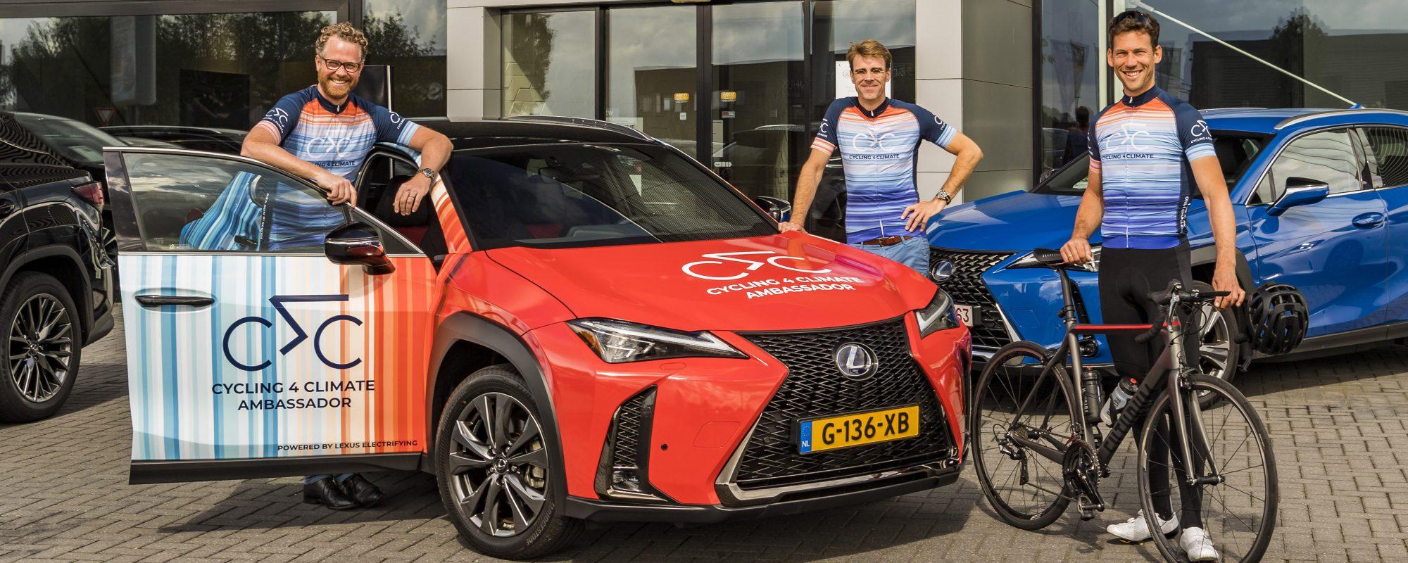 Duurzame match: Cycling 4 Climate-ambassadeur Maarten Tjallingii stapt in Lexus UX Hybrid