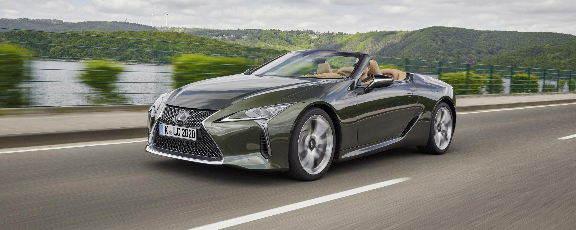 Nieuwe Lexus LC 500 Convertible: compromisloos open rijplezier