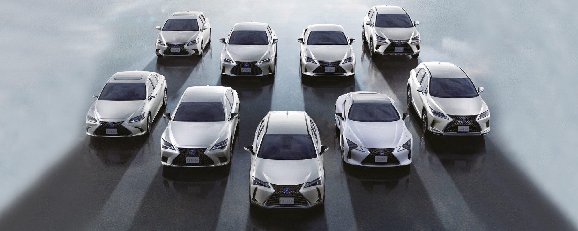 Lexus bereikt groene mijlpaal van 2miljoen geëlektrificeerde voertuigen wereldwijd